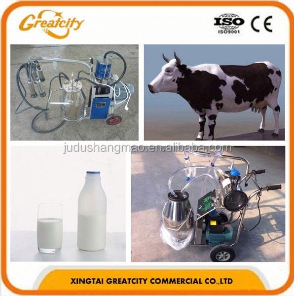 16-20 cow /h double buckets mobile cow milking machine bangladesh