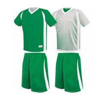 Green Double Side Football Jersey Mesh Reversible Quick Dry Kids Discount Soccer Jerseys Uniforms