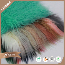 Cheap price 110 mm raw material for soft toys fur fabric long pile faux fur