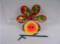 rainbow multi color PET for kids toy flower pinwheel