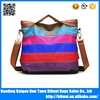 New fashion big size nylon women handle tote bag with wholesale price