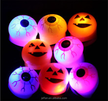 2017 New Arrival terrible colourful eyeball Led Flashing Ring For Halloween