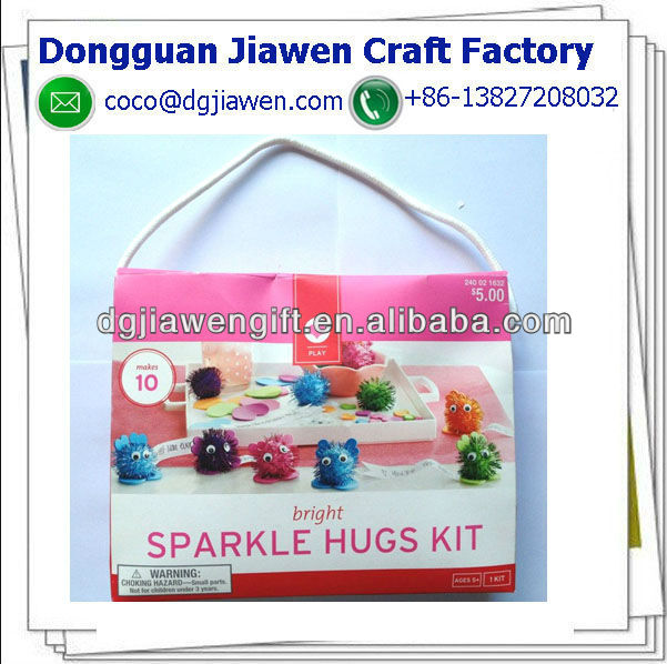 Bright Sparkle Hugs Kit Makes 10 Pompom Wuppies