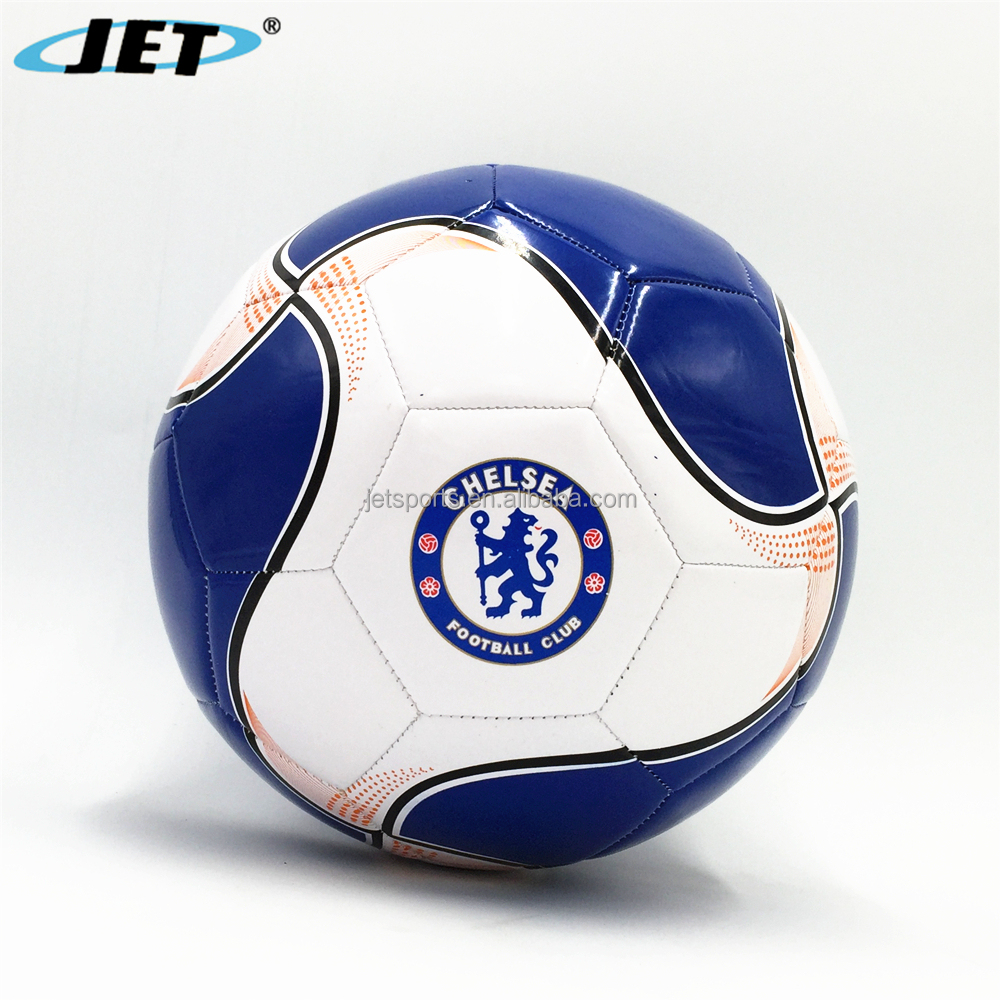 Customized Machine Stitched and Thermal Bonded Soccer Ball Jet Sport Football Products