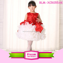 2016 Luxury Design Little Party Pageant Tutu Red White Dress Party Gowns For Kids Baby Ball Gowns Girls Dresses