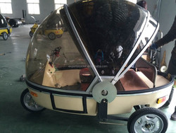 velo taxi tuk-tuk for passenger electric trike with sunshade