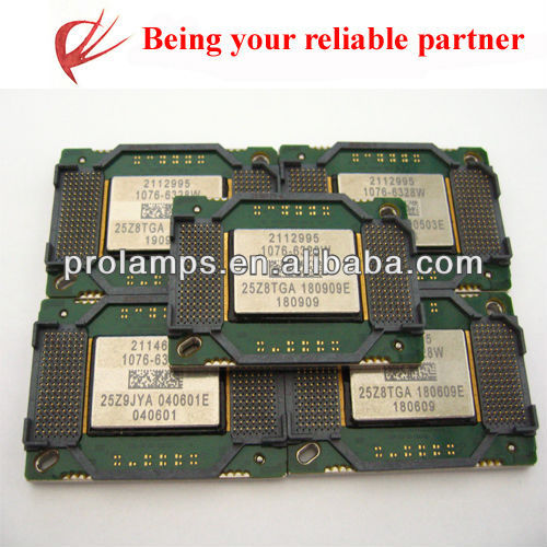 100% new projector dmd chips for many projectors of 1076-6328W 1076-6039B 8060-6039B 1280-6039B