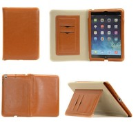 3 in 1 leather tablet case for ipad mini 7.9 inch brown