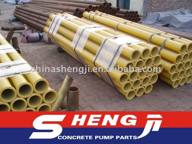 Putzmeister concrete pump spare parts--OD133 4.5mm ST52 concrete pump truck boom pipe with 148mm flange
