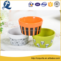 Halloween decal stoneware ramekin bakery tools cup cake cups