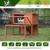 2016 comfortable use keep warm shockproof large wooden build rabbit cage
