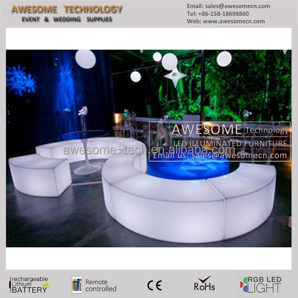 Bancs lumineux exterieur chaise de jardin lumineuse poufs lumineux exteri - Chaise de jardin pvc ...