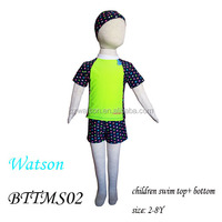 boy swimming wear rash guard set cute printing artwork