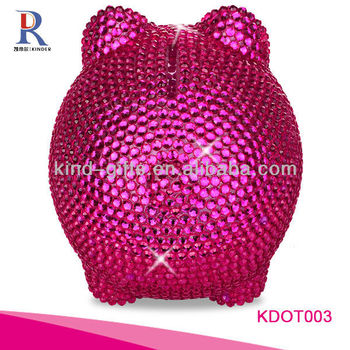 Most Beautiful And Fashion Piggy Bank| Safety Deposit Box With Rhinestone|Crystal Bling Decoration