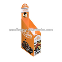 Supermarket POP car accessory modular corrugated cardboard promotion floor display