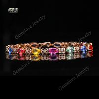 Cheap items to sell 18k rose gold plated copper multi colored crystal stone jewelry bracelets for women