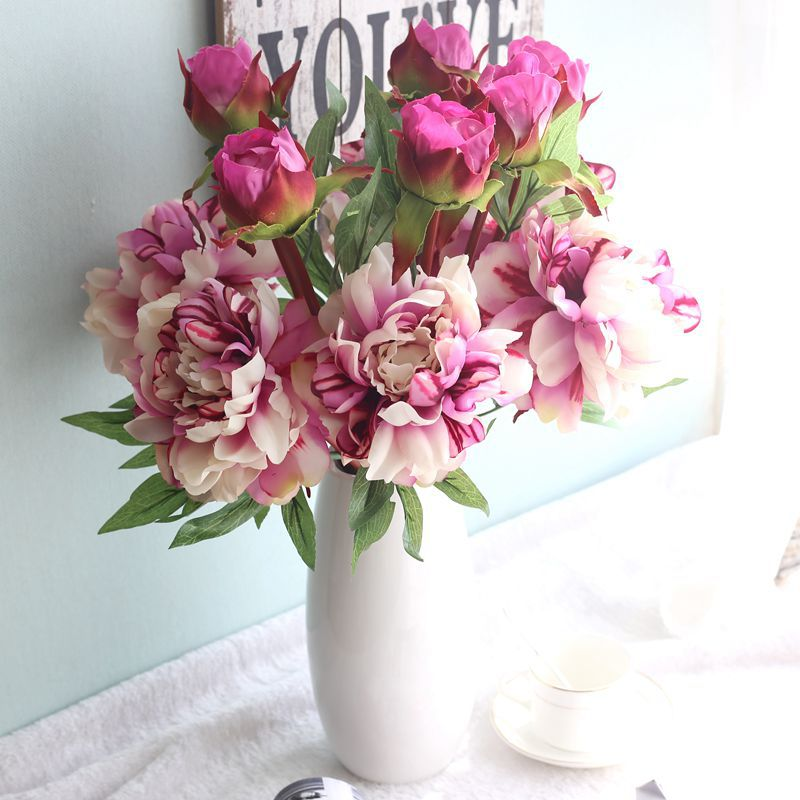 Artificial <strong>flowers</strong> imported from china peony silk artifical <strong>flowers</strong> peonies