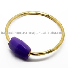 recycled glass brass bangles
