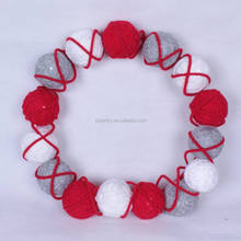 Excellent quality new model Christmas felt ball wreath