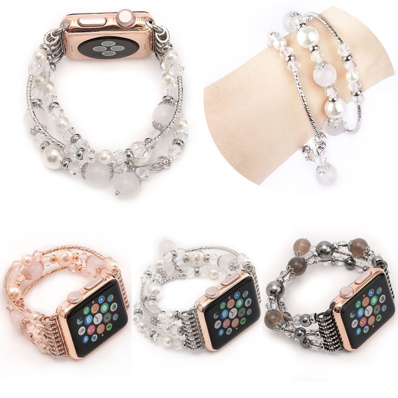 Simple Presentable Crystal Agate Band for Apple watch band 38/42mm