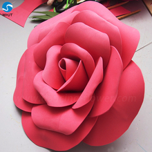 Red rose giant foam paper flower wall artificial flowers for celebration decoration