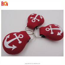 promotional floating neoprene keychain key holder ring custom printing