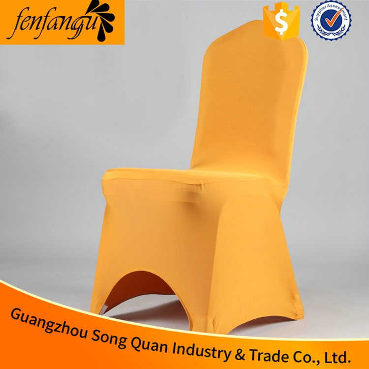 Cheap Wedding Disposable Chair Cover with colorful sash