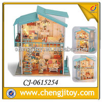 DIY miniature wooden doll house CJ-0615254