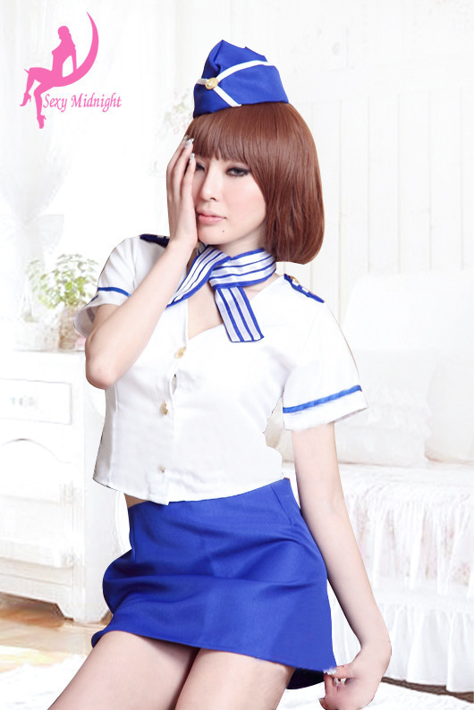 AV OL sexy flight attendants wear clothes policewoman uniforms temptation role playing sexy lingerie suit free shipping