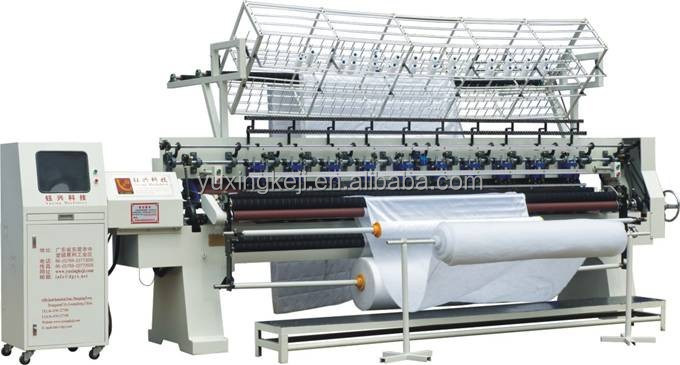 Yuxing manufactured industrial computer controlled multi needle lock stitch quilting machine-making machine quilt