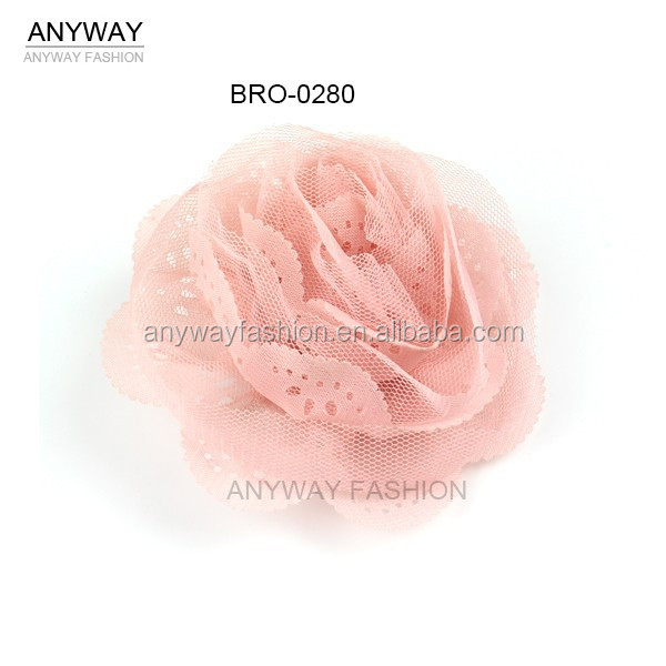 Wholesale Fabric Flowers Handmade Flower Brooch