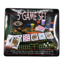 Five Game Set - Black Jack, Roulette, Poker, Craps and Poker Dice