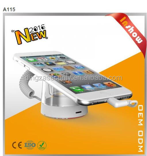 Retail security system anti-theft device for mobile phone display with strong clamp