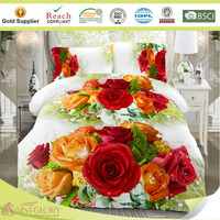 sublimation print duvet cover brushed fabric quilt cover set hometextile factory