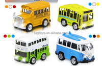 Miniature bus model die cast model cars toys for kids from china 2016 new products kids cars for sale