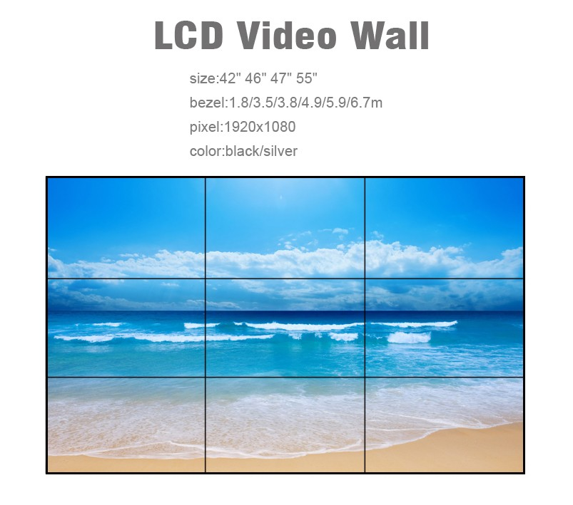 New J 1080 seamless Narrow bezel NxN with Samsung / LG Screen LCD video wall