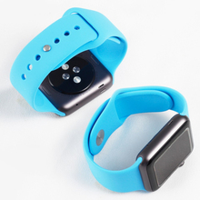 High Quality Silicone Sport Watch Strap Bands with Adapter for Apple Watch iWatch