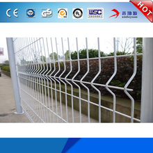 China welded galvanized decorative durable competitive price protective cheap double wire garden fence edging/metal 3d panels