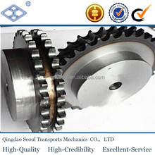 "OEM carbon steel pitch 15.875mm 50A simplex roller chain 10A-30T 5/8"" hub transmission sprocket with keyway"