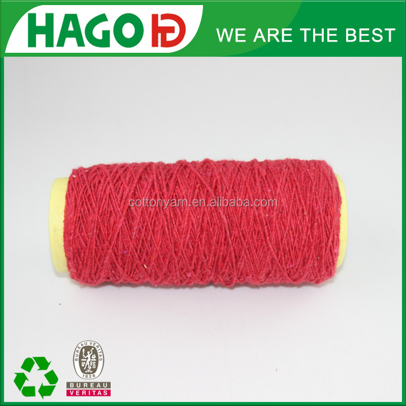 double combed cheap yarn open end recycled 20% polyester 80% cotton soft comfortable high quality 100 % cotton yarn