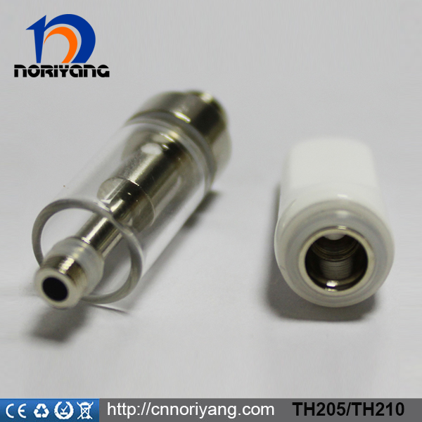 Wholesale Glass CBD atomizer cartridge ceramic coil glass tank th205