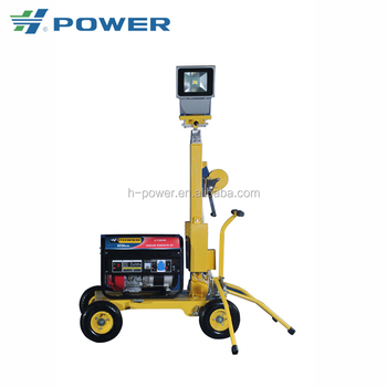 Solid reputation portable mobile LED vehicle-mounted Gasoline light tower GLT-2500-2