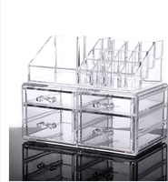 Large Clear Acrylic Makeup Organizer With