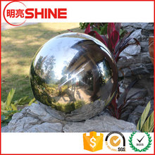20 Inch Silver Hollow Ball Stainless Steel Sphere Gazing Globe For Garden Pool Decoration