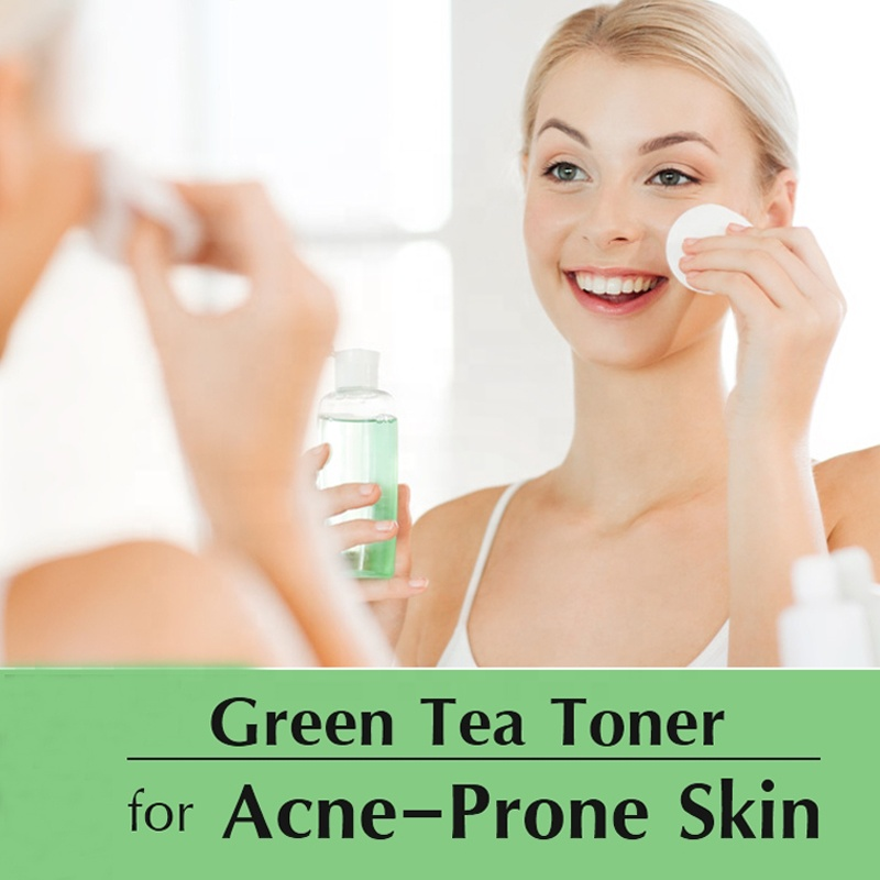 Men Skincare Products Acne Clearing Skin Toner Treatment Green Tea Facial Toner Spray