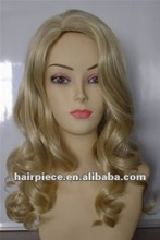 Afro kinky human hair/ blonde curly hair afro wig/body weave pretty curl synthetic wigs for white women
