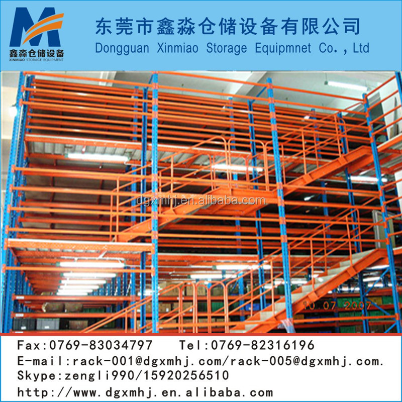 Mutil-Level mezzanine floor covered with steel gratings