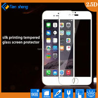 Newest 0.3mm Electroplate Golden Color Tempered Glass Screen Protector for iPhone 5 5C 5S 2.5D Round Edge