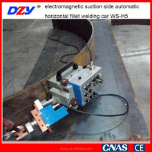 No rail travel electromagnetic suction side automatic horizontal fillet welding machine