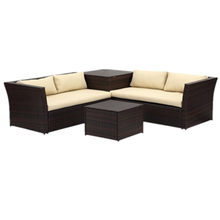 PE rattan outdoor living sofa set Garden Sofa Wicker sectional <strong>Furniture</strong>